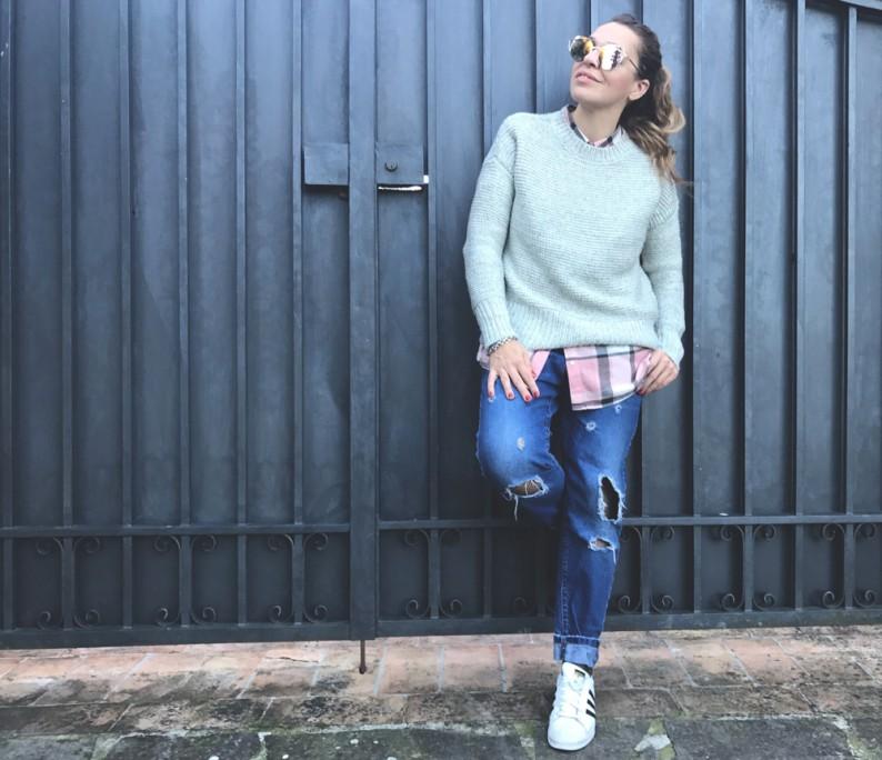 calze a rete sotto i jeans SWEET LAVANDA BLOG